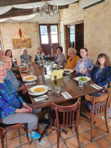 Image of EdsQ members at lunch at The Continental.